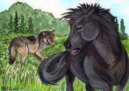 Bájka o vlkovi a koňovi.